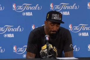 J.R. Smith thanks parents in emotional postgame press c...