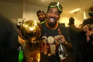 Watch J.R. Smith celebrate NBA Finals win
