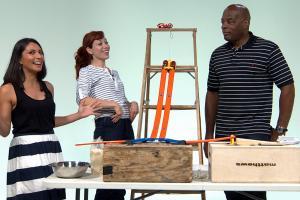 We made a Rube Goldberg machine because science