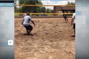 James Harrison, Steelers play medicine ball volleyball