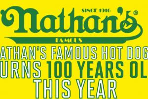 Happy 100th Nathan's Hot Dogs