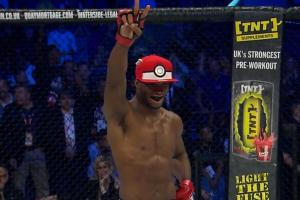 MMA fighter KOs opponent, captures him with Pokéball