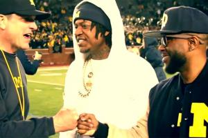 Michigan head coach Jim Harbaugh featured in rap video
