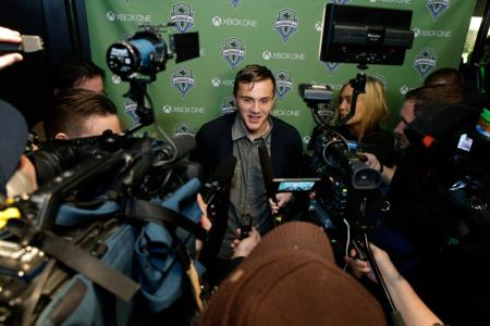Jordan Morris signed a three-year guaranteed contract with the Seattle Sounders.