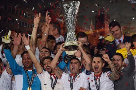 Sevilla wins its third straight UEFA Europa League title