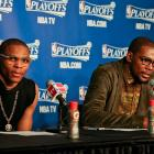 Russell Westbrook, Kevin Durant: Game 1 vs. Rockets. (Layne Murdoch/Getty Images)