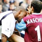Jermain Defoe's reaction to a foul from West Ham's Javier Mascherano was toothy indeed.
