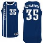 "Kevin Durant's navy blue alternate Oklahoma City Thunder nickname jersey with ""Durantula"" on the back. (NBA.com)"
