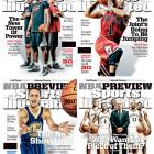 The four covers for Sports Illustrated's 2013-14 NBA season preview issue. (Sports Illustrated)
