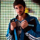 Ricky Rubio models the Timberwolves' new warm-up jacket. (Adidas)