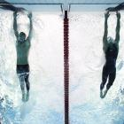 Michael Phelps' memorable come-from-behind finish in the 100 meter butterfly at the 2012 London games. (Heinz Kluetmeier/SI)