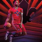 """Dwight Howard wearing the All-Star version of his """"Howard 4"""" signature sneakers by Adidas. (Adidas)"""