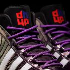 """A detail look at the 2014 All-Star edition of Dwight Howard's """"Howard 4"""" signature sneakers by Adidas. (Adidas)"""