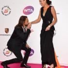 """Ana Ivanovic and Bob Sinclar: Things got a little """"French"""" when the DJ hit the pink carpet."""
