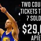 Floor seats for Warriors-Thunder Game 7 sell for $29K each