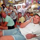 Brett Favre talks to the Atlanta Falcons from his bedroom on NFL draft day in 1991. Favre was drafted in the second round by the Falcons, and later traded to the Packers.