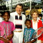 Their California roots got Serena and Venus a photo op with President Ronald Reagan and wife, Nancy.