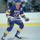 Federko's talent was obscured because he played on a string of mediocre St. Louis teams, but the center was a gifted playmaker who got the most out of his teammates. He was the first player to record at least 50 assists in 10 consecutive seasons, and he broke the 100-point barrier four times. Federko set franchise marks for career assists (721) and points (1,073). — Honorable mentions: Bill Barber (Flyers, 1972); Shane Doan (Jets, 1995)