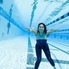 Thirteen-year-old American swimming prodigy Chelsea Chenault in 2008.