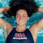 Swimmer Summer Sanders before the 1992 Olympic games.