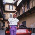 Former middleweight Marvin Hagler leans against his Porsche. Marvelous Marvin had an incredible 62-3-2 record over his career, including 52 knockouts.