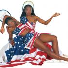 The sisters got in touch with their patriotic side during a 2000 photo shoot for SI. Serena has won four Olympic medals while representing the U.S., three in doubles and the other in singles.