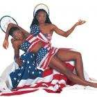 The sisters got in touch with their patriotic side during a 2000 photo shoot for SI.