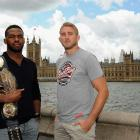 Jones and Gustafsson, with the Houses of Parliament behind them, promoting their UFC 165 bout in the summer of 2013.