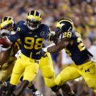7. Michigan at Notre Dame (Sept. 6, 7:30 p.m., NBC): This is the last scheduled meeting of this often-entertaining rivalry and the fourth straight showdown under the lights. Golson will likely line up under center after a season away from the Fighting Irish, and while Notre Dame's defense loses standouts Louis Nix and Stephon Tuitt, it brings back linebacker Jaylon Smith and steady defensive end Sheldon Day. As for Michigan, Wolverines fans will be curious to see how quarterback Devin Gardner and the offense fare under new coordinator Doug Nussmeier, especially after a not-so-promising spring game showing by the offensive line.
