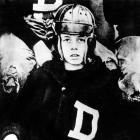 A 10-year-old John F. Kennedy suited up for football in 1927 at the Dexter School in Brookline, Mass.