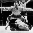 """Louis, with a record of 27-0 and ranked No.1, Louis signed to fight 30-year-old former champion Max Schmeling of Germany in what was regarded as a mere tune-up bout for Louis before he would face heavyweight champ James J. Braddock. Schmeling, though, was still a smart and dangerous fighter. Before the bout, he told reporters that he had watched films of Louis, adding cryptically, """"I see something."""" (Printed in the papers, of course, as """"I zee zome-ting."""" What he saw was Louis's tendency to drop his left hand after jabbing. Schmeling exploited that opening to land repeated right hands. He knocked Louis down for the first time in his career in the fourth and finished him off in the 12th in a finish that rocked the boxing world."""