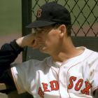 A portrait of Ted Williams taken before a game with the Baltimore Orioles in 1958.