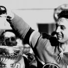 Pouring champagne into the Cup was a familiar custom for Jean Beliveau, but 1965 brought him an extra prize. The Canadiens' captain became the first recipient of a new award created to honor the most outstanding performer of the playoffs -- the Conn Smythe Trophy — after he scored eight goals and 16 points in 13 postseason games.