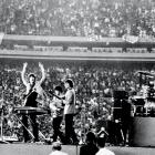The lads from Liverpool were at their Beatlemania heights when they played their first U.S. concert in front of 53,275 at Shea. It was the first U.S. concert to be held at a major outdoor stadium and set records for attendance and revenue.
