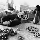 Reel to spiel: For the ever-loquacious Ali, even a rare moment of down time — like this afternoon in 1970 in a Miami hotel room — was a chance to do some talking.