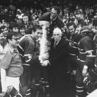 Montreal's rookie goalie Ken Dryden began cementing his legend by holding off the Blackhawks in Chicago long enough for his team to rally from a 2-0 hole late in the second period. Henri Richard scored the tying and decisive goals against Chicago's Hall of Fame netminder Tony Esposito.