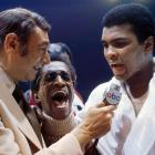Howard Cosell interviews Ali, with entertainer Sammy Davis Jr. in the middle, after his victory over Joe Bugner by unanimous decision in. Although the fight was never in jeopardy of getting away from him, Ali praised Bugner's legs and said he could be a champion in a few years.