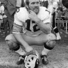 Bradshaw passed for 27,989 yards and 212 touchdowns in his career, with a single-season high of 3,724 passing yards in 1979.