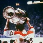 Conn Smythe winner Bob Gainey hoisted the Cup while being carried by his teammates after the Canadiens defeated the New York Rangers in Game 5. The championship was the fourth and final of Montreal's last dynasty, and it marked the end of the careers of Hall of Famers Ken Dryden, Jacques Lemaire and Yvan Cournoyer.
