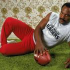 "Jim Brown poses in December 1983, 18 years after the conclusion of his playing career. Towards the end and following the conclusion of his football career, Brown became a successful actor, appearing in ""The Dirty Dozen,"" ""The Running Man,"" and ""Any Given Sunday."" He briefly considered returning to football in 1983 with the Los Angeles Raiders, but never did."