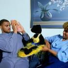 Charles Barkley and his mother, Charcey Glenn, enjoy some down time at Barkley's Philadelphia home.