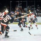 Known as the Easter Epic, the Isles and Caps battled in Washington through 69 minutes of extra play after New York's Bryan Trottier tied the game 2-2 with 5:22 left in regulation. At 1:57 a.m. — nearly seven hours after the opening face-off — Pat LaFontaine beat Caps goalie Bob Mason with the game-winner. Some players lost up to 15 pounds during the game and were reduced to taking 20-second mini-shifts. Isles goalie Kelly Hrudey made a whopping 73 saves.