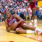 Charles Barkley takes a second to smile for the camera during a game against the Lakers in Los Angeles. During the 1988-89 season, Barkley averaged 26 points and 12.5 rebounds per game.