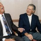 Old pals Stan Musial and Ted Williams catch up in 1991.