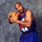 Charles Barkley poses for a portrait as a new member of the Phoenix Suns. After averaging more than 20 points and 10 rebounds per game for seven straight seasons with the Philadelphia 76ers, Barkley was sent to the Suns for Jeff Hornacek, Andrew Lang and Tim Perry.