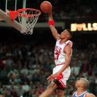 After losing to the Knicks in the 1994 Eastern conference semifinals, Scottie Pippen and the Bulls were out for revenge on Christmas Day. Pippen dominated the Knicks with 36 points, 16 rebounds, five steals and all seven of the Bulls' points in overtime, as the Bulls defeated the Knicks 107-104.