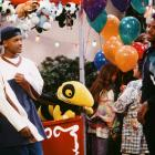 Alfonso Ribeiro and Will Smith film the Fresh Prince of Bel-Air episode ''Love Hurts'' with Ken Griffey, Jr.