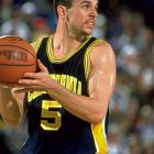 Though he failed to win a title at Cal, Jason Kidd was named a finalist for both the Naismith and Wooden Awards following his sophomore season. He entered the draft in 1994 was selected by the Dallas Mavericks with the second overall pick.