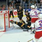 New York defenseman Brian Leetch, the Conn Smythe Trophy winner, opened the scoring in an epic Game 7 by beating Canucks netminder Kirk McLean. The Rangers went on to a 3-2 win that left Madison Square Garden in a frenzy.