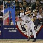 It should have been the second out of the bottom of the eighth inning of Game 1 of the 1996 ALCS. Instead, in one of the most famous blown calls in major league history, rightfield umpire Richie Garcia failed to notice 12-year-old Yankees fan Jeffrey Maier reaching over the fence to pull Jeter's fly ball to right over the wall. Jeter's first great postseason moment tied the game at 4; New York won in 11 and took the series in five games.